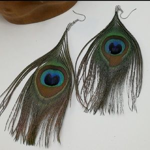 NWT HUGE gypsy peacock feathers Egyptian